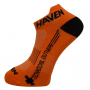 Ponožky HAVEN SNAKE Silver NEO orange/black 2 páry