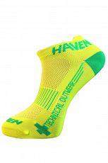 Ponožky HAVEN SNAKE Silver NEO yellow/green 2 páry