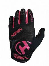 Dlouhoprsté rukavice HAVEN DEMO LONG  black/pink