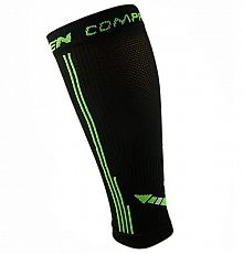Kompresní návleky HAVEN Compressive Calf Guard EvoTec black/green - MIDDLE COMPRESSION